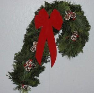 Candy Cane Wreath Greener Tomorrows Menahga MN